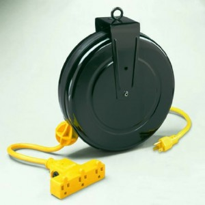 Retractable Extension Cord Reel w/ Circuit Breaker 30 Ft Cord