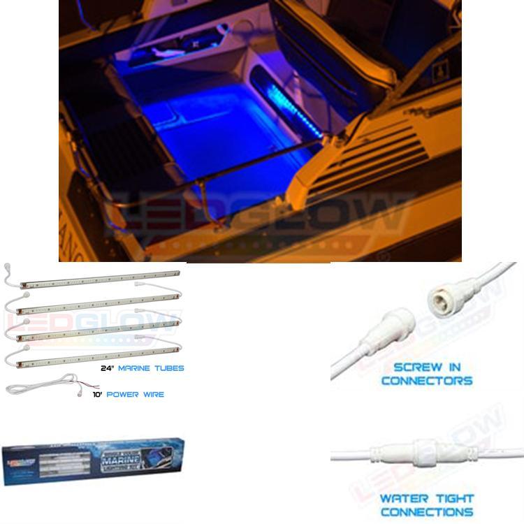 4pc Blue Boat Led Accent Lighting Kit Lu Ml B 4 109 99