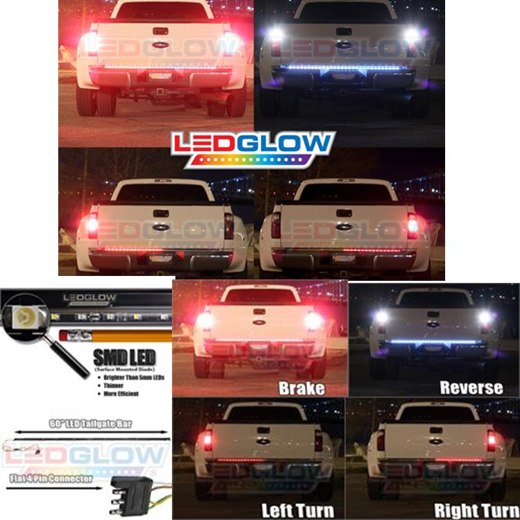 60 Inch Full Size Truck Red LED Tailgate Light Bar with Reverse