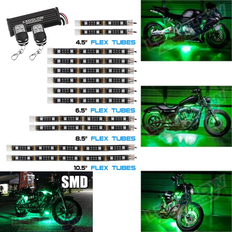 Advanced Green SMD LED Motorcycle Light Kit 12 Piece