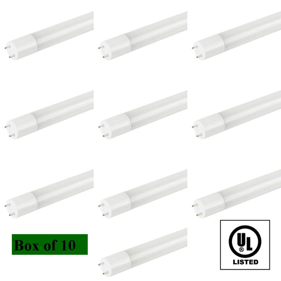 box of 10 t8 led fluorescent tube replacement cool white 4000k
