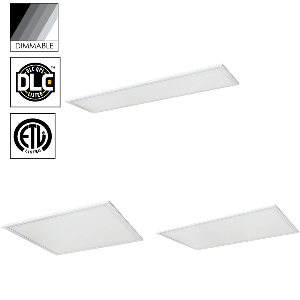 Pack of 2 2X4 Rectangle LED Lay-In Troffer Light Fixture